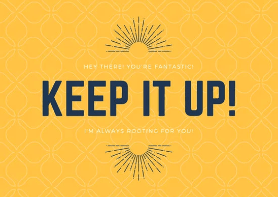 Yellow Patterned Encouragement Card