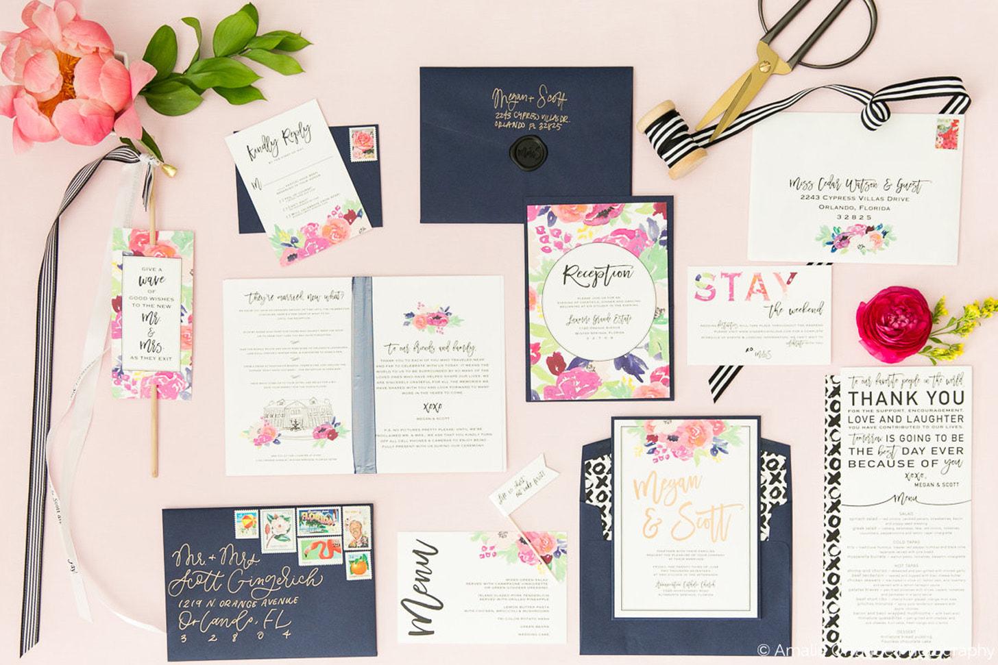Paper Goat Wedding Invitation