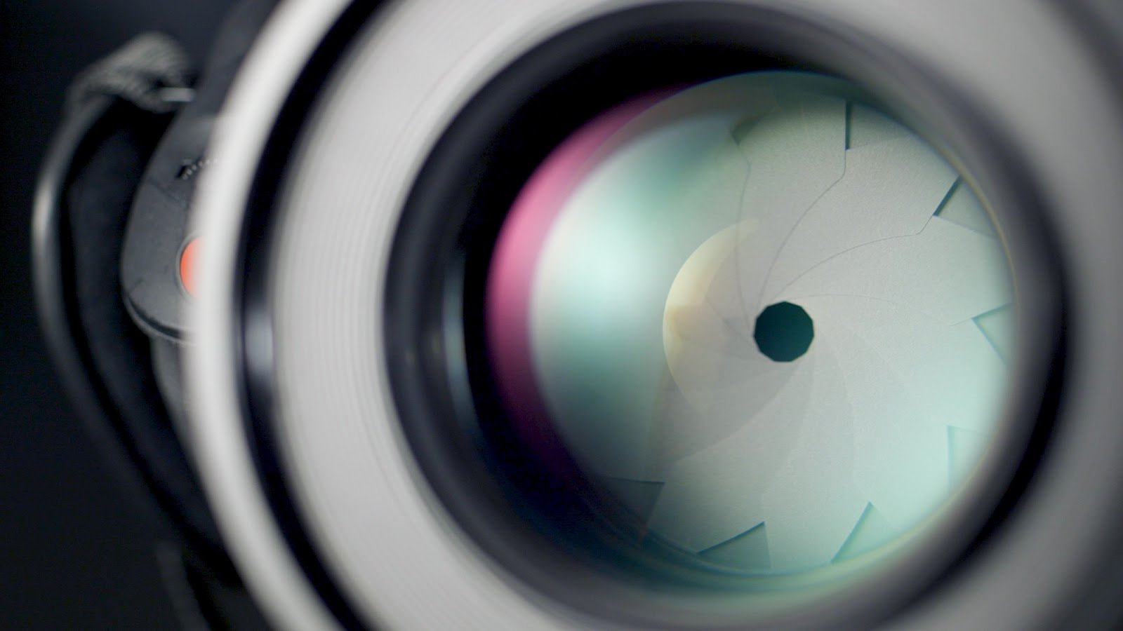 Close up shot of a camera lens by Brent Barbano