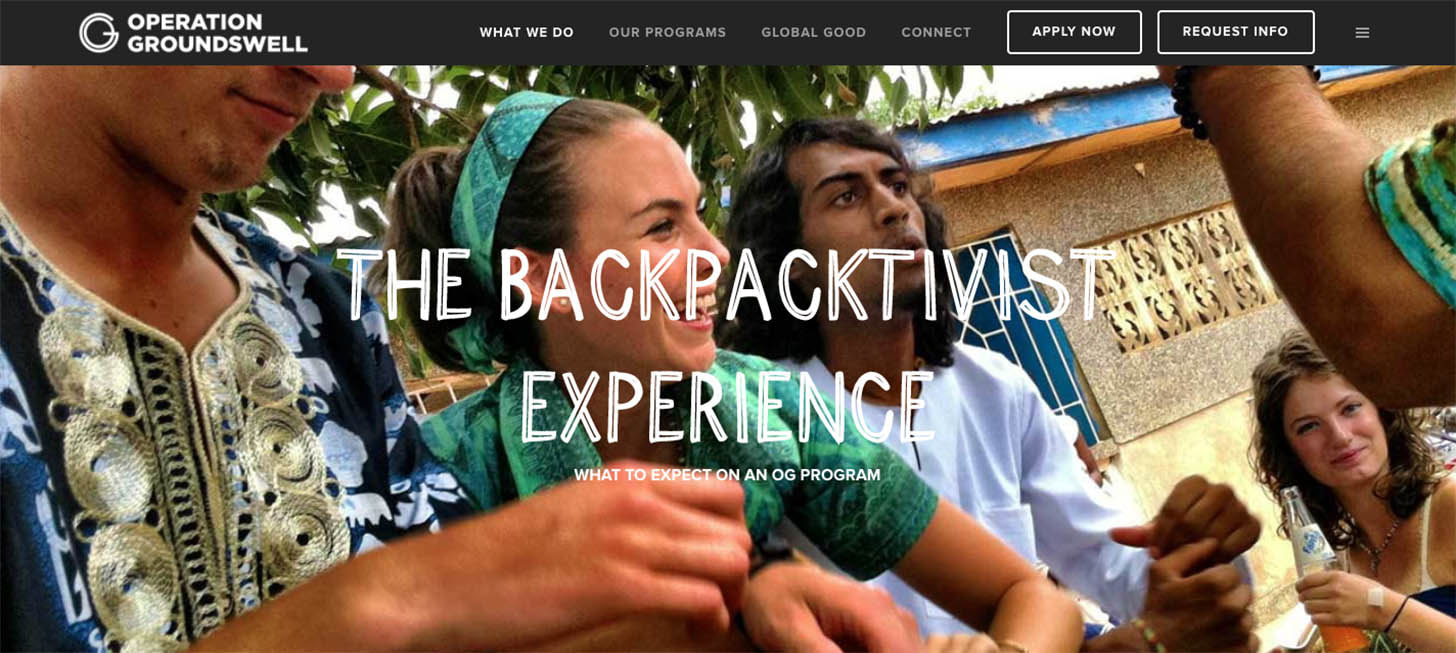 the backpacktivist experience