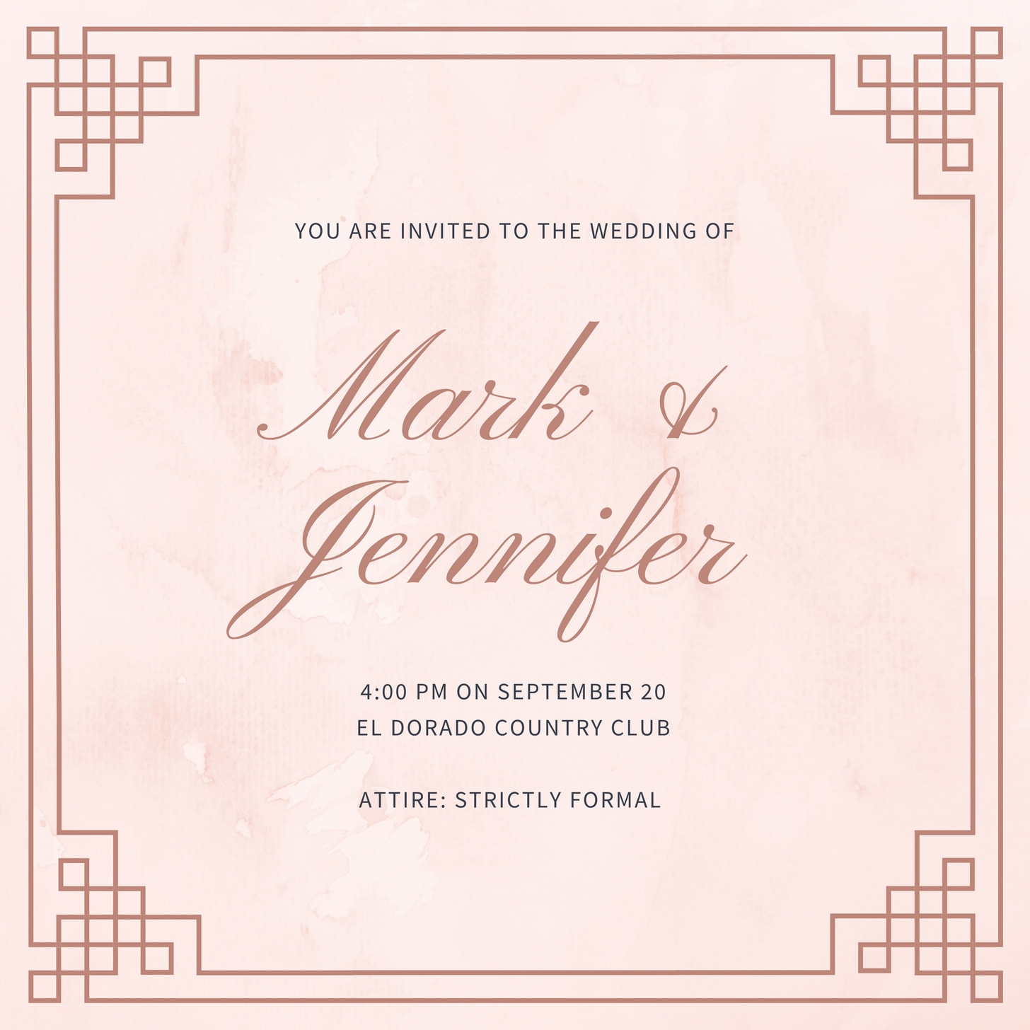 Get The Look Royal Wedding Invitation Templates
