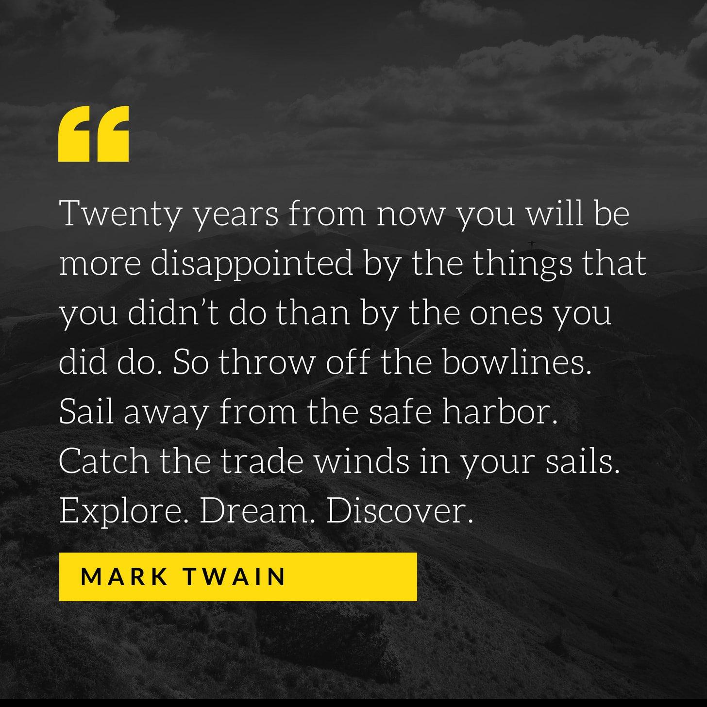 Mark Twain Instagram Quote