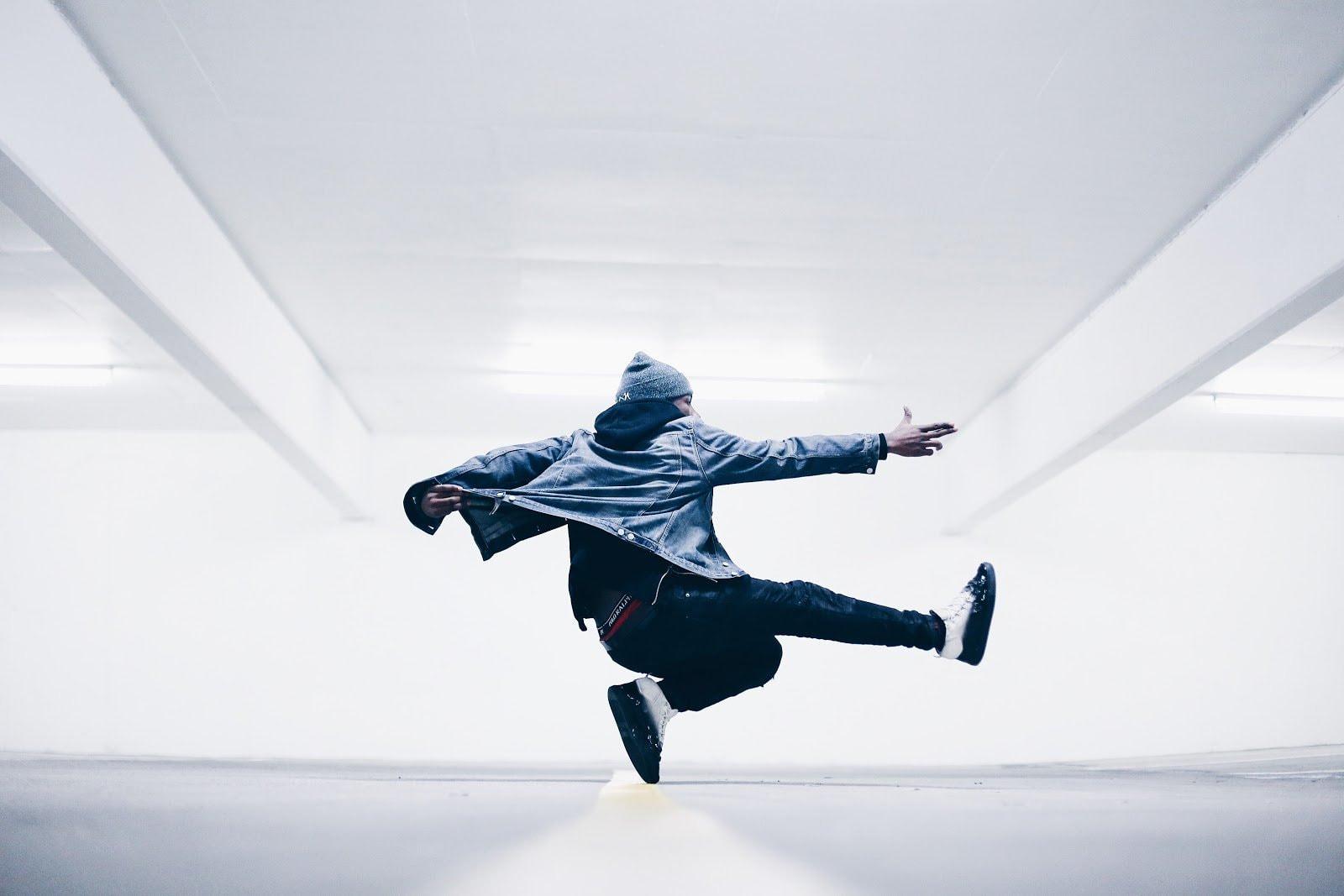 Man jumping by Drew Graham