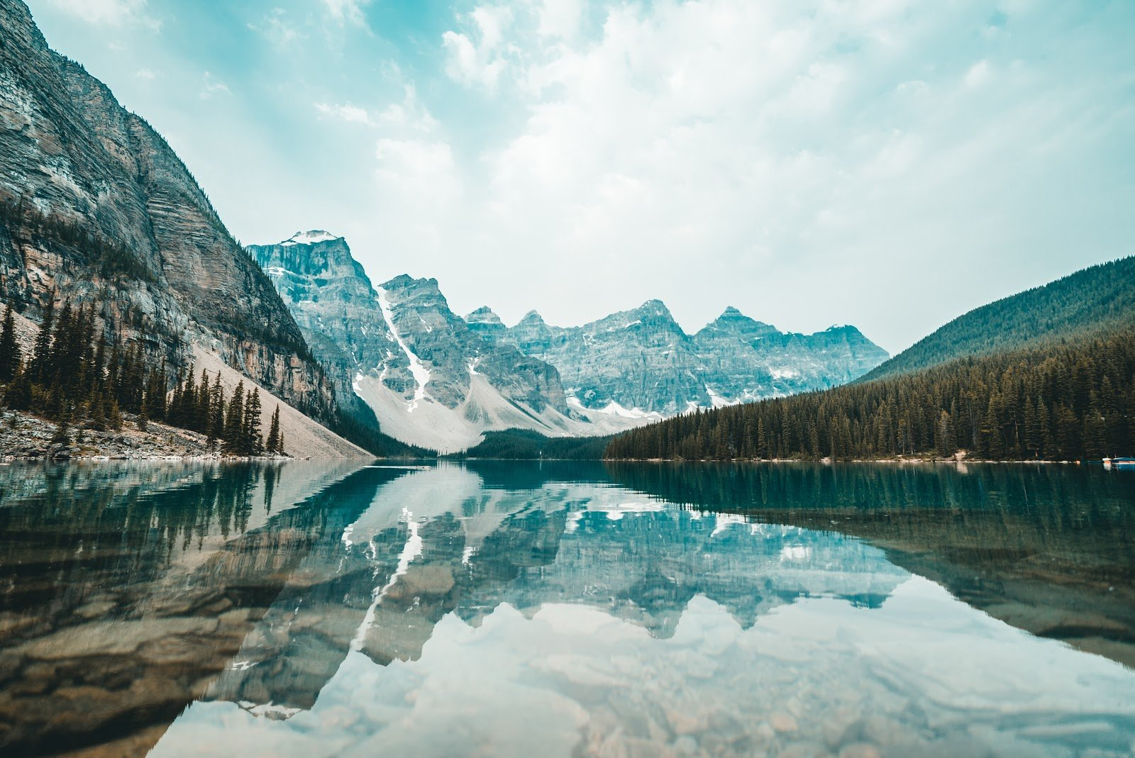 Cold mountains reflecting itself on the crystal waters photo by Redd Angelo