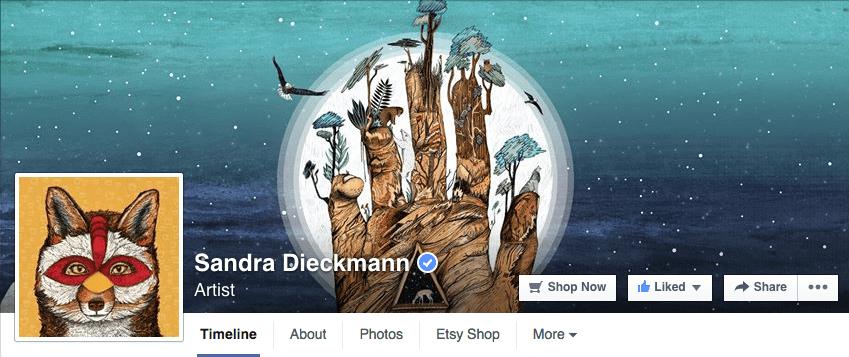 Facebook cover artist