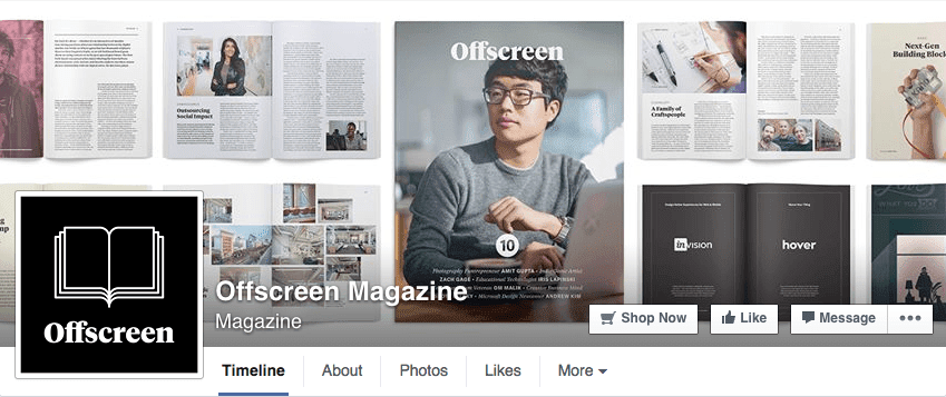 Magazine layout Facebook cover