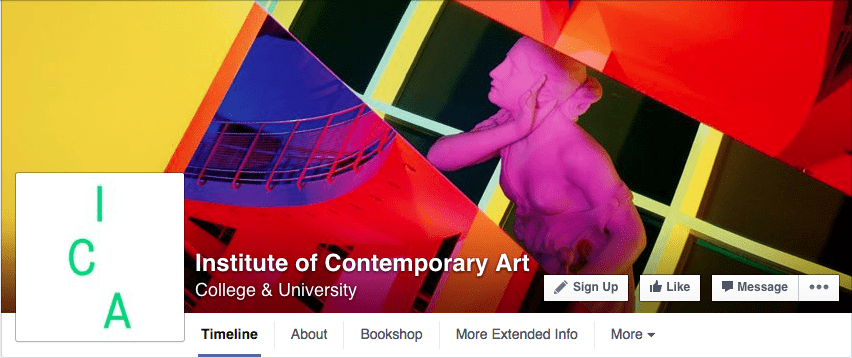 Bold bright creative unique Facebook cover