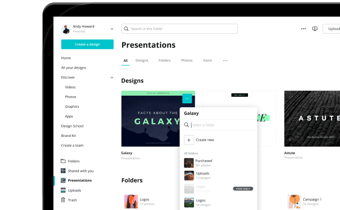 Canva tutorials-folders - Design School