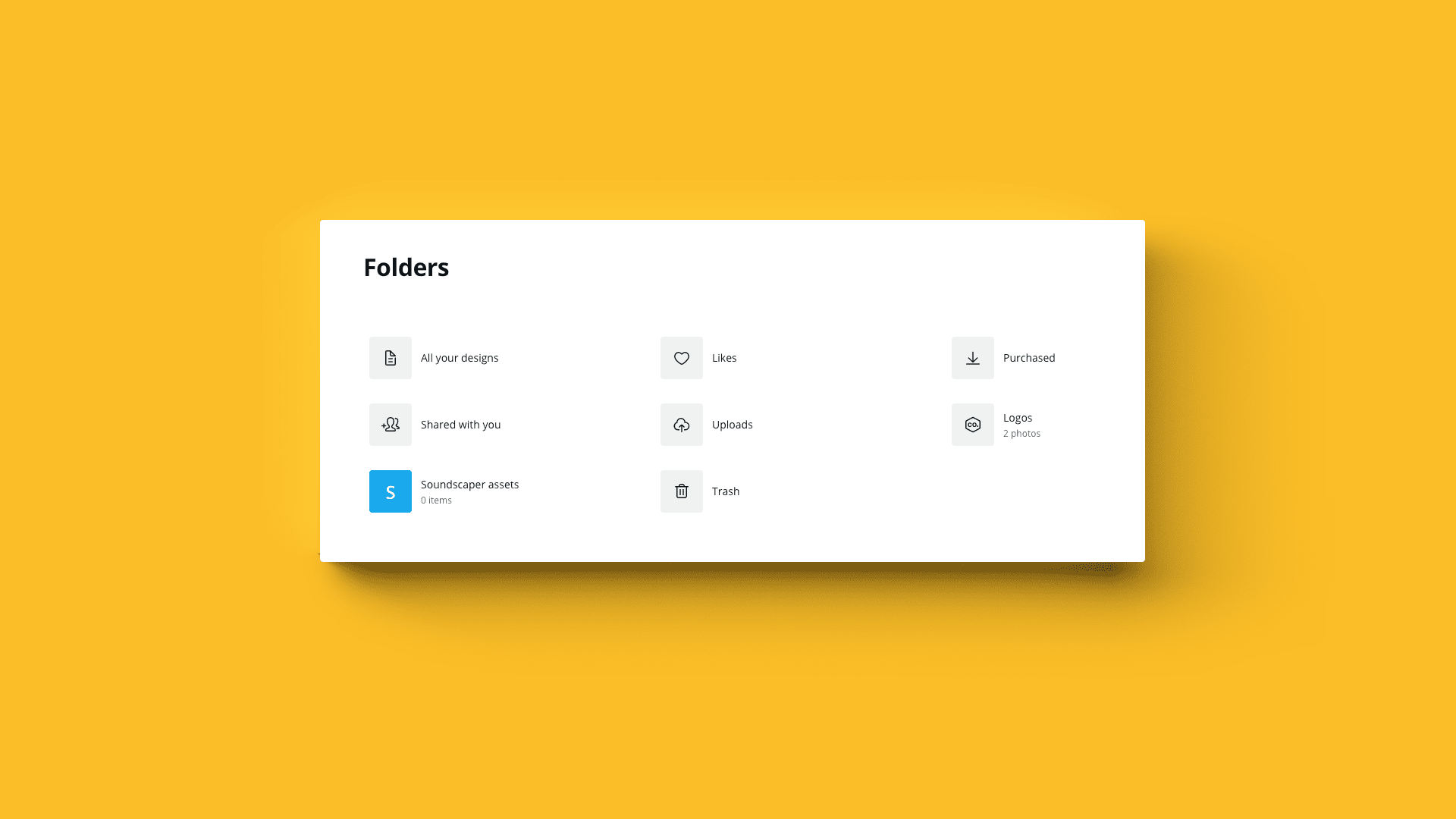 How to create and share design folders