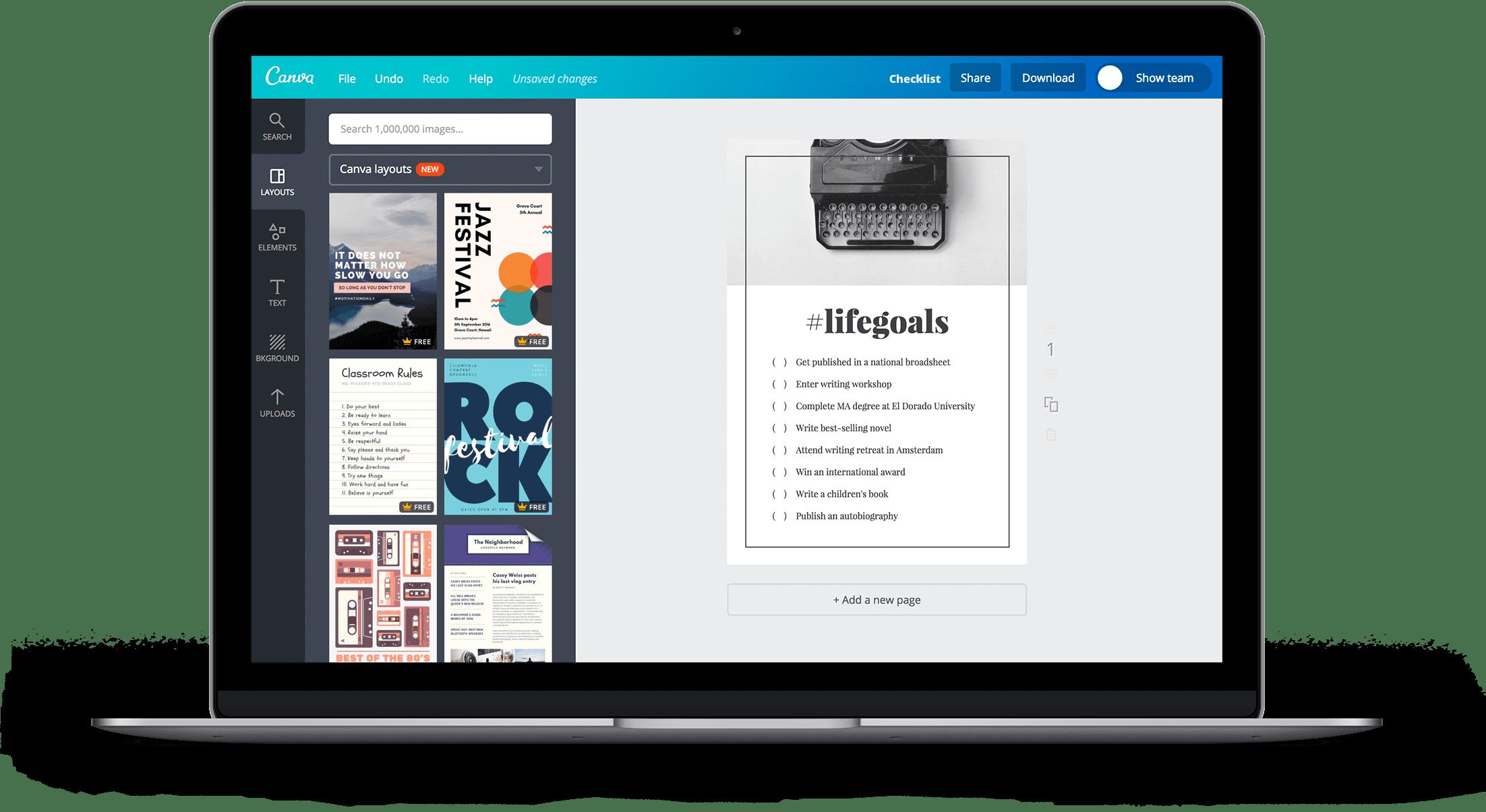 Checklist Landing Page