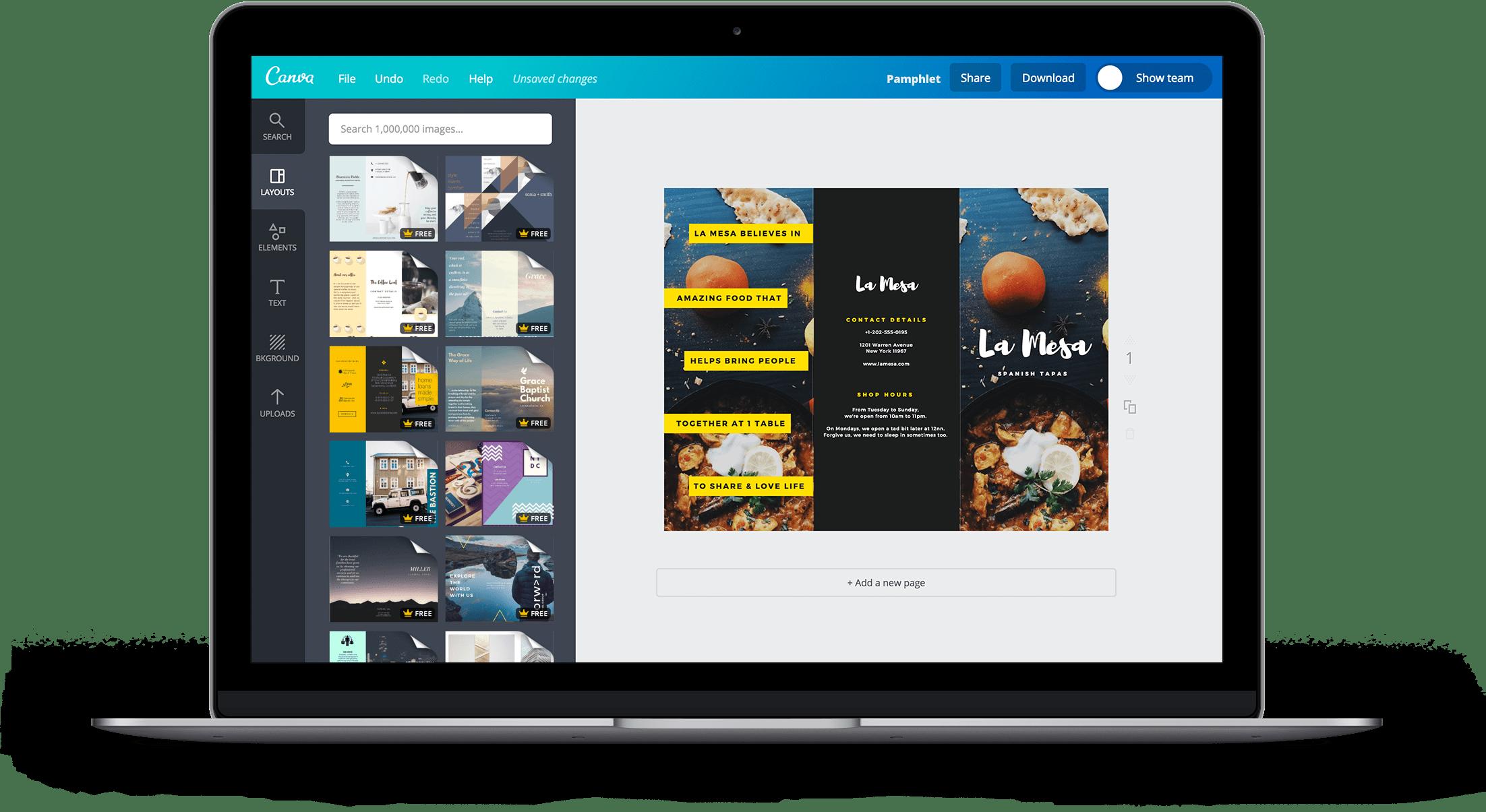 Pamphlet Landing Page