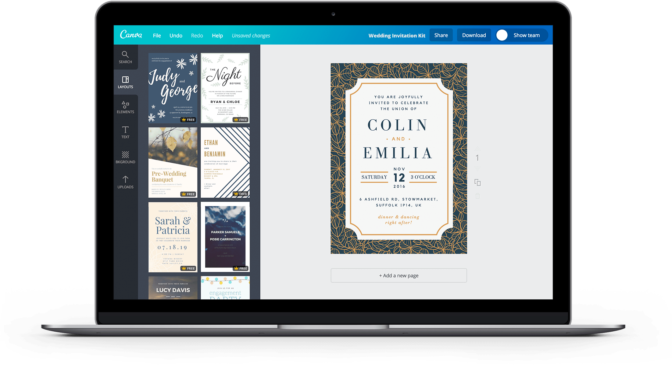 Free Online Wedding Invitation Kits Design Custom Wedding Kits In Canva