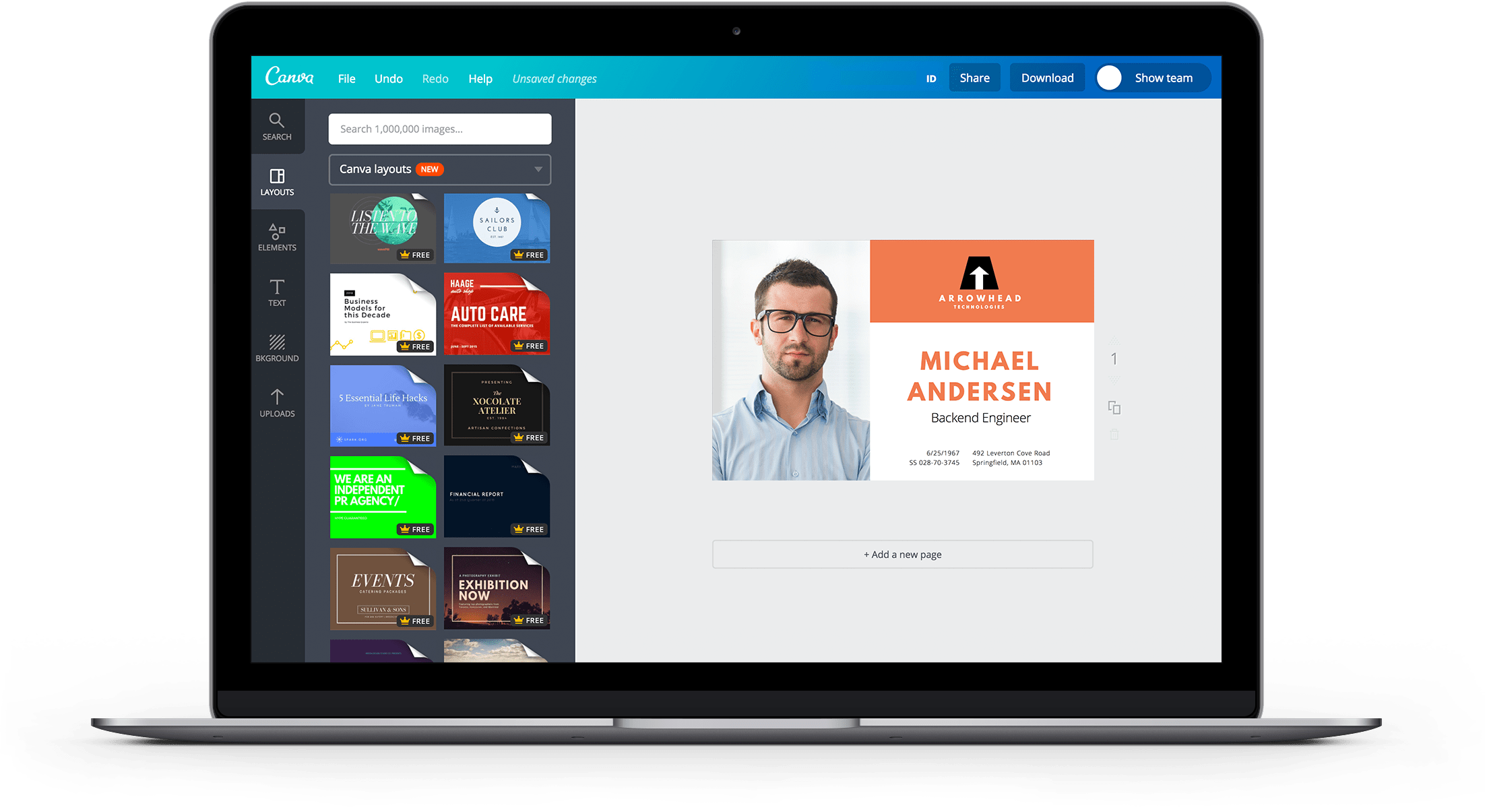 ID Landing Page