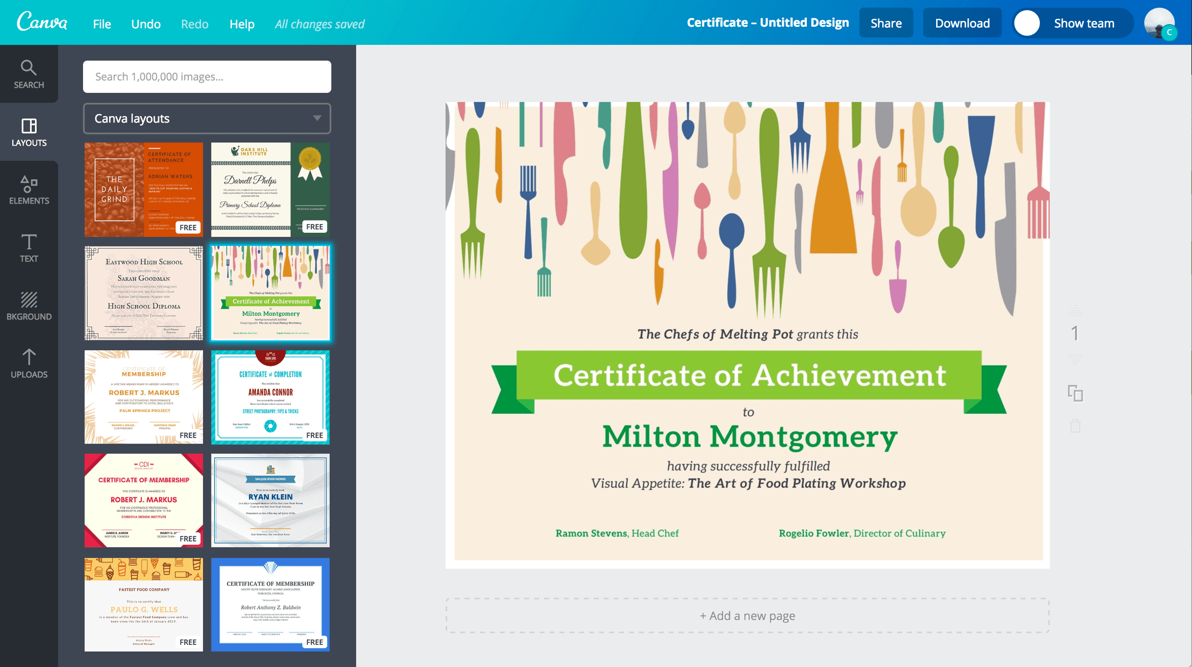 Free Online Certificate Maker Create Custom Designs Online Canva