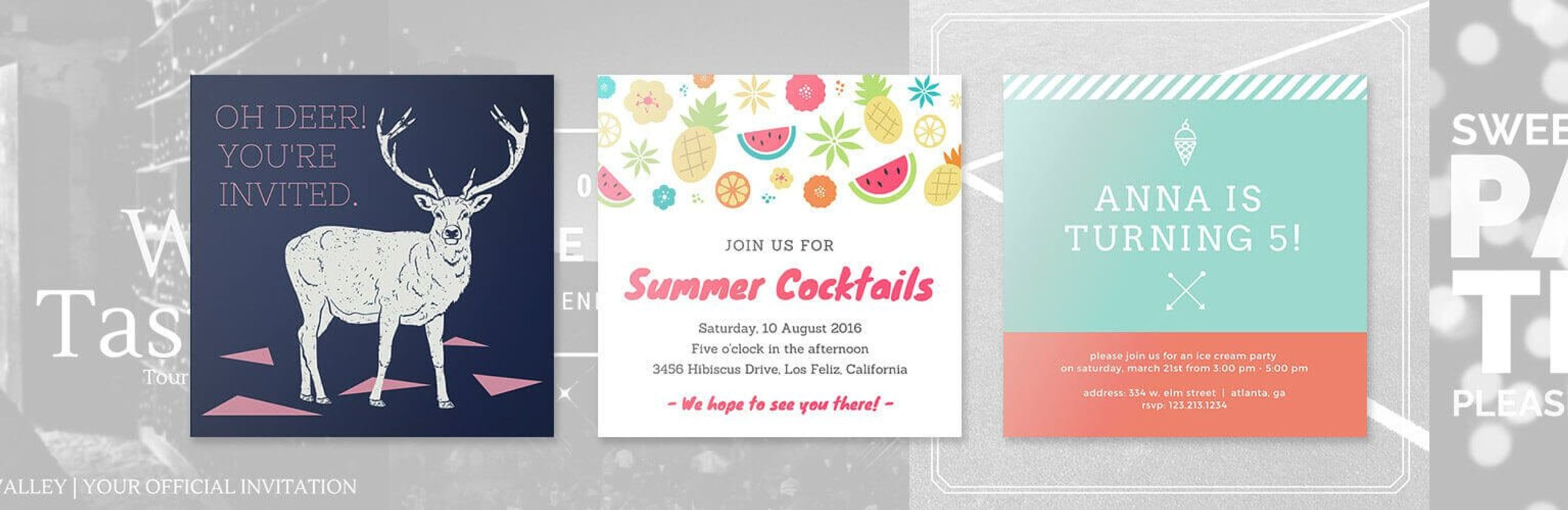 Design your Own Custom Birthday Invitations - Canva
