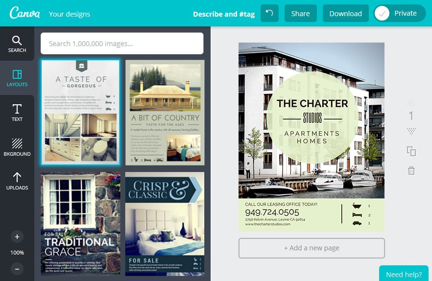 Create a Business Flyer in Canva
