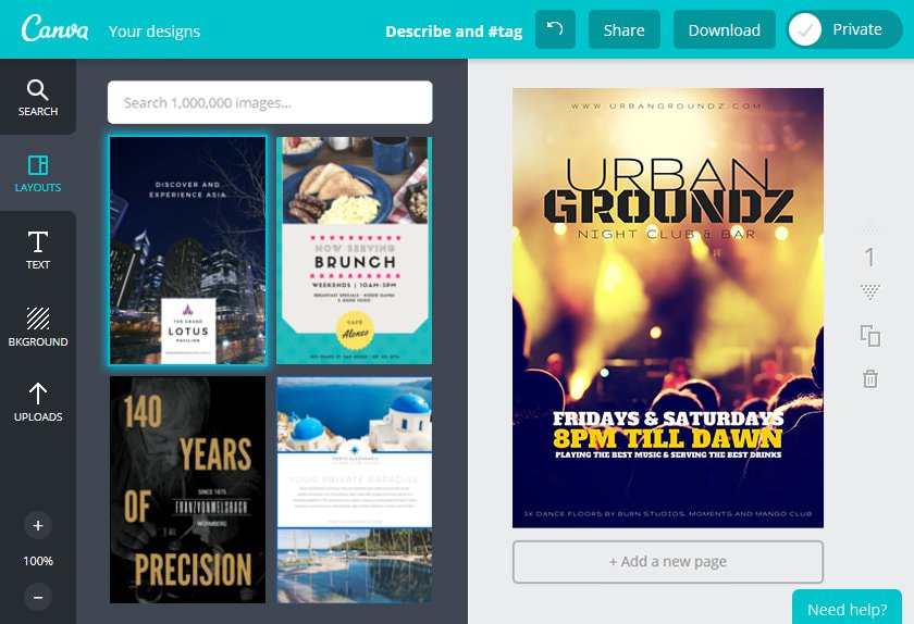 Create a Club Flyer in Canva