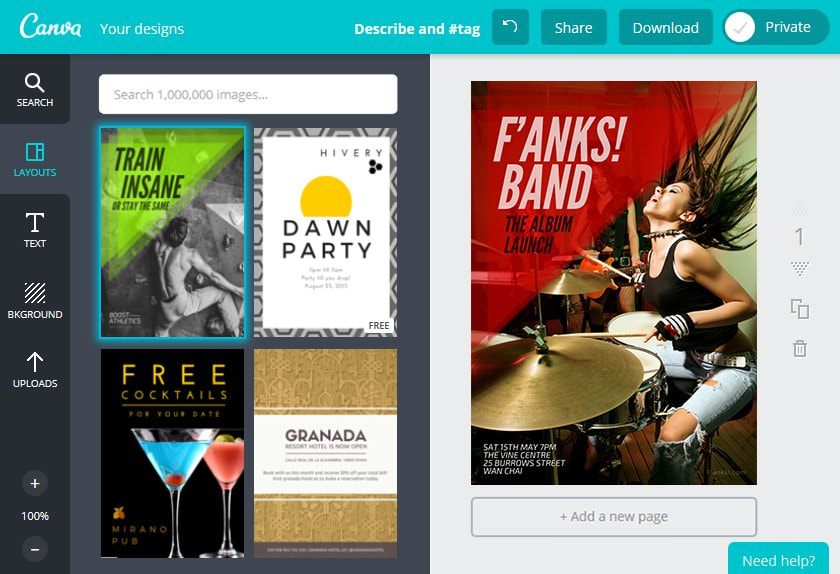 Create an Band Flyer in Canva