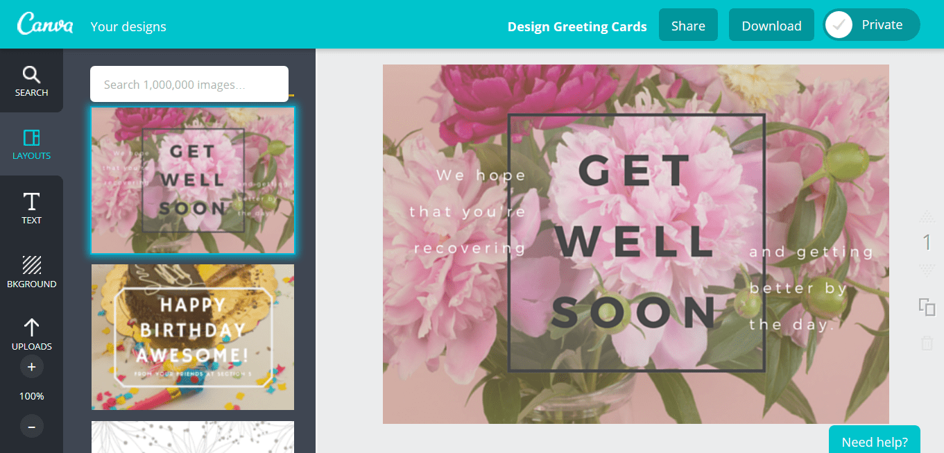 Free Online Greeting Card Maker Create Custom Designs Online Canva