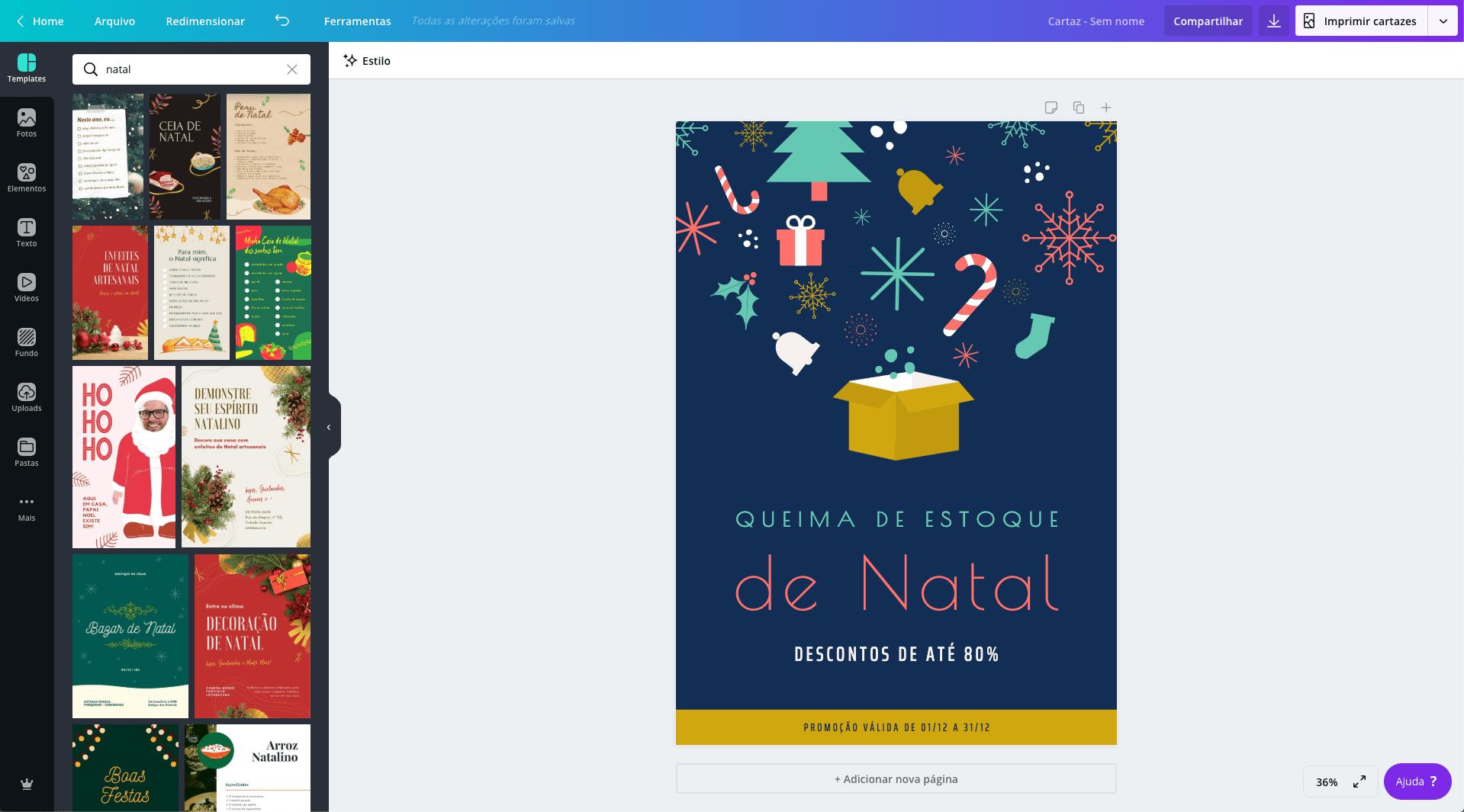 Cartaz de Natal