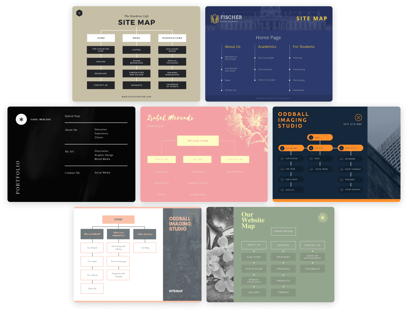 Site Map Template Free from static-cse.canva.com