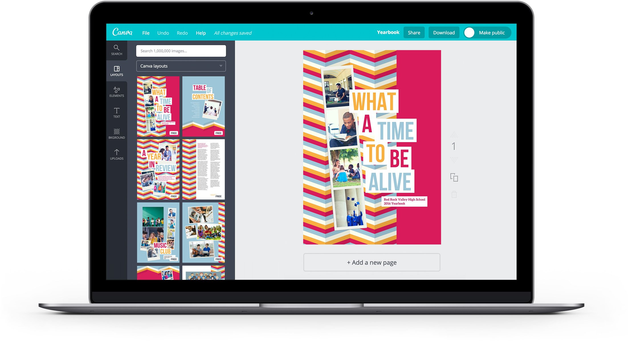 Free Online Yearbook Maker Design A Custom Yearbook In Canva