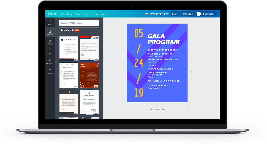 Free Online Event Program Maker Design A Custom Event Program Canva