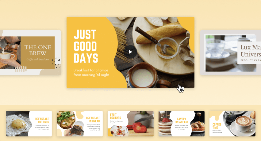Slideshow maker Canva - Content Image