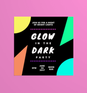 40 Glow In The Dark Party Ideas Canva