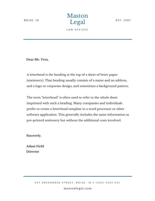 หัวจดหมายทนายความ