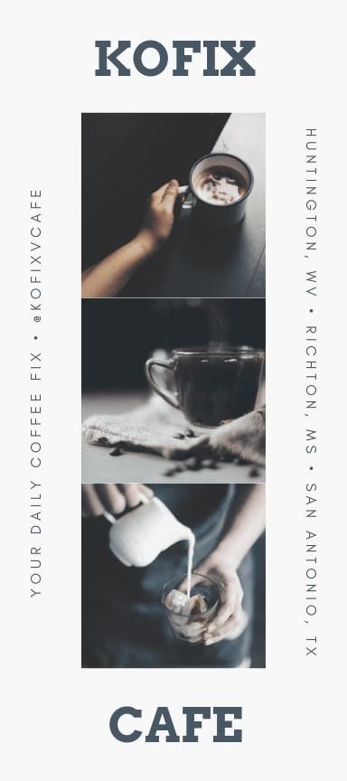 カフェのパンフレットラック用カード印刷