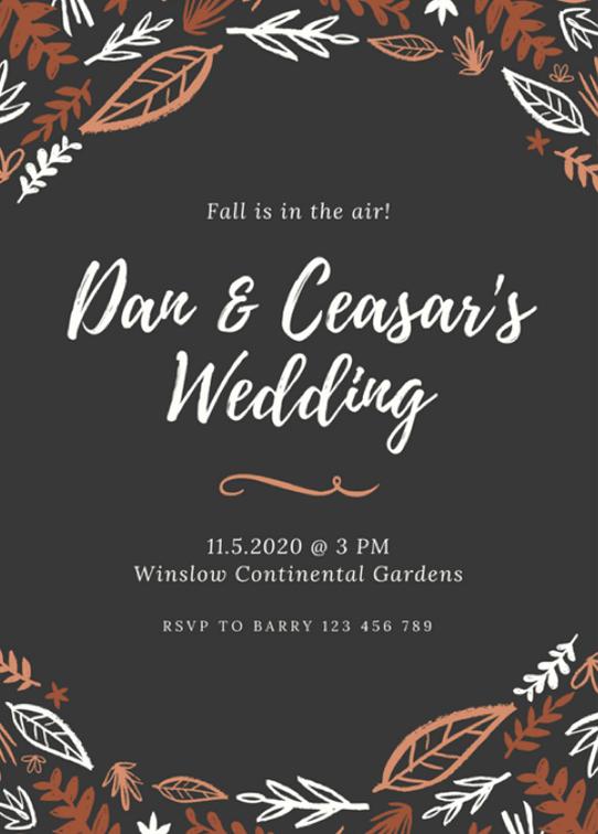 Canva Printで作成したカントリーな結婚式招待状