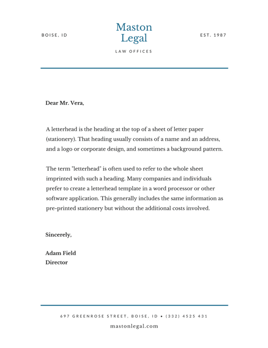 attorney-at-law-letterhead