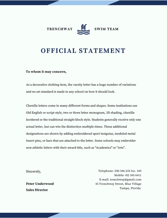official-letterhead