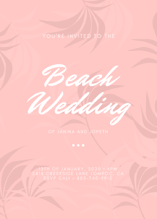 thiệp cưới-bãi biển-canvaprint