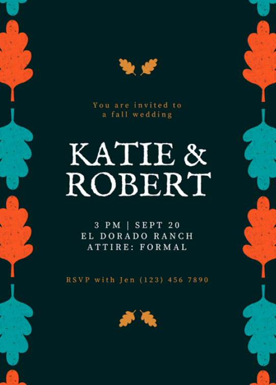 canvaprint-invitación-boda-otoño