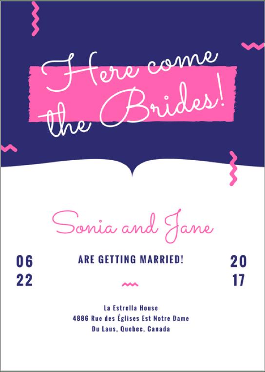 свадьба-приглашение