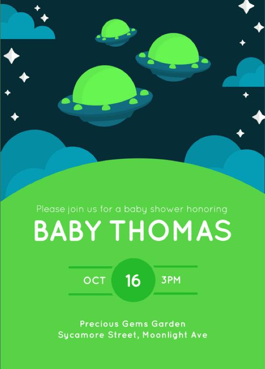 新生兒派對邀請卡