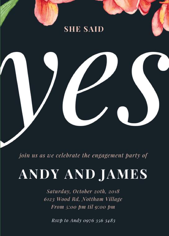 forlovelsesfestinvitasjon