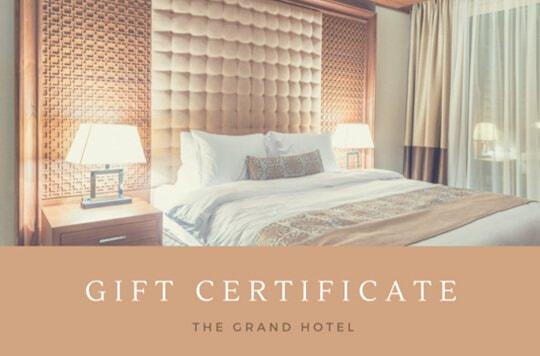 บัตรของขวัญโรงแรม (1)