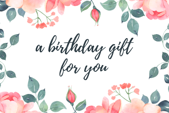 Print Gift Certificate - Pink Roses Birthday