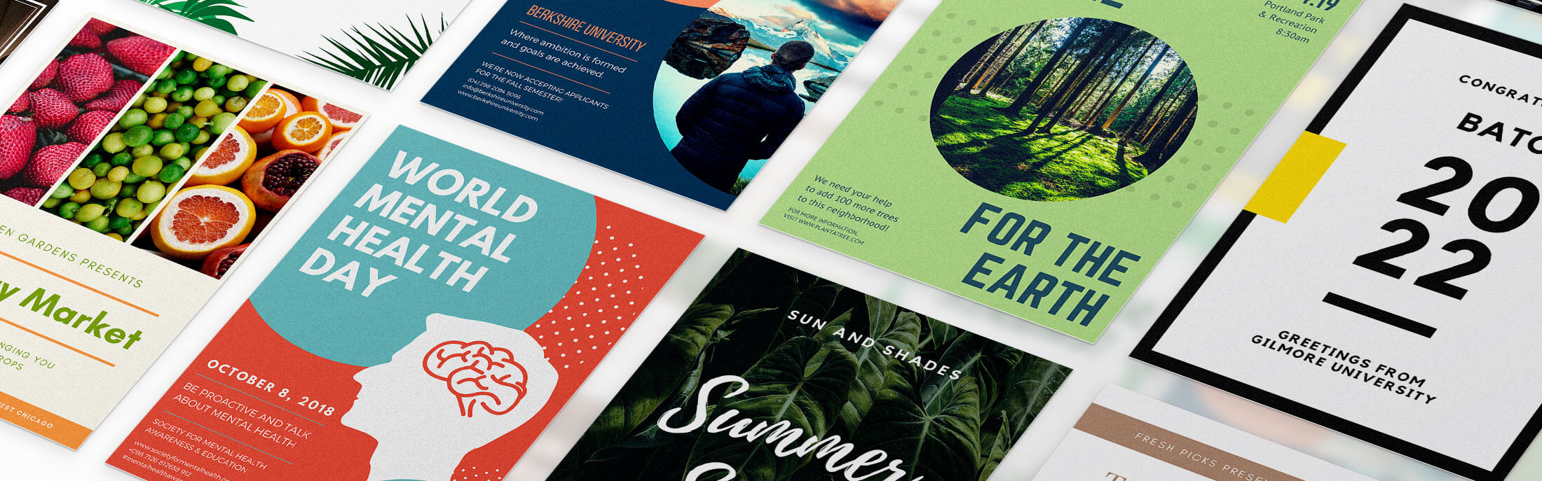 Free Vector Summer Festival Poster Template 2